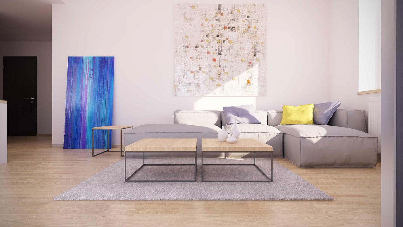 eclectic-artwork-in-the-living-room